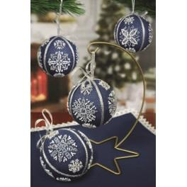 Cross stitch kit - Christmas balls with snowflakes