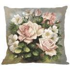 Cross stitch kit - Pillow - Pastel roses