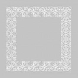 ZU 8852 Cross stitch kit with mouline and napkin - Norway napkin