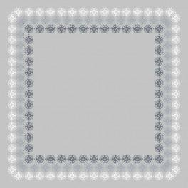 Cross stitch kit with mouline and napkin - Napkin with lace I