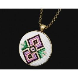 Cross stitch set with mouline and medallion
