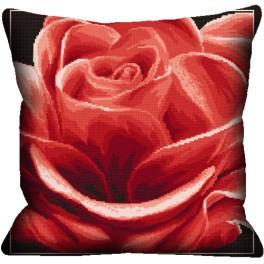 Cross stitch kit - Pillow - Red rose