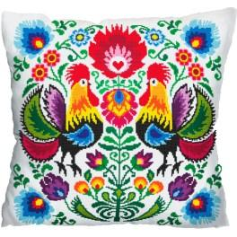 Cross stitch kit - Pillow - Roosters