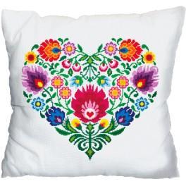Cross stitch kit - Pillow - Ethnic heart