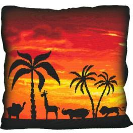 Cross stitch kit - Pillow - Out of Africa