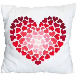 Cross stitch kit - Pillow - Just for you