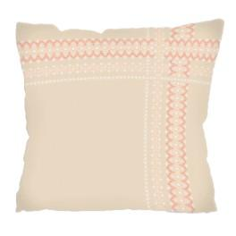 Cross stitch kit - Pillow with lace