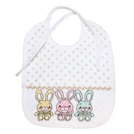 Cross stitch kit - Bib with little hare