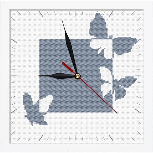 ZGRI 8674 Cross stitch set with beads, clock and frame