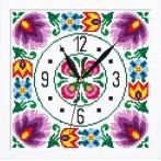 ZGRI 8844 Cross stitch set with beads, clock and frame