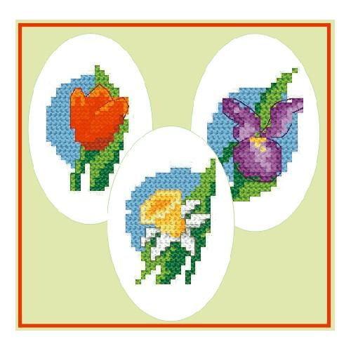 Cross stitch kit - Embroidered Easter eggs