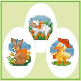 Z 4597-02 Cross stitch kit - Embroidered Easter eggs