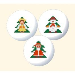Cross stitch kit - Christmas decoration