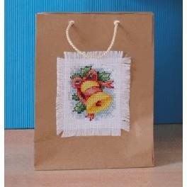 Cross stitch kit - Decorative bag - Bell