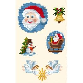 Cross stitch kit - Golden frames