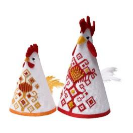 Cross stitch kit - Hen and cock