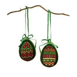 Cross stitch kit - Easter eggs - Colourful patterns