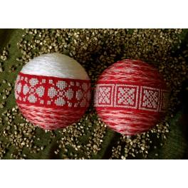 Cross stitch kit - Snow Christmas balls