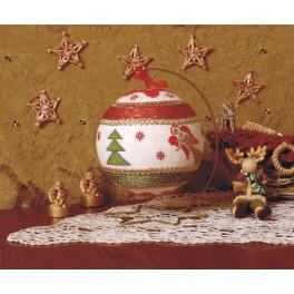 Cross stitch kit - Christmas ball with angels