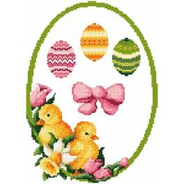Cross stitch kit - Decoration with Easter eggs
