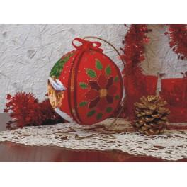 Cross stitch kit - Christmas ball - Winter evening