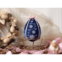 Cross stitch kit - Easter egg with flowers