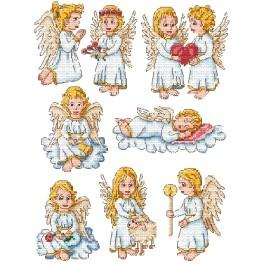 Cross stitch kit - Christmas decorations - Angels