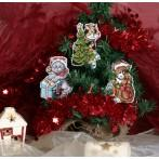 Set with mouline - Christmas cats