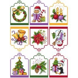Cross stitch kit - Gift tags
