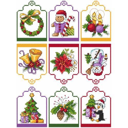 Cross stitch kit - Gift tags