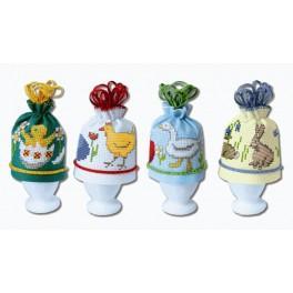 Cross stitch kit - Egg warmers