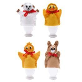 Cross stitch kit - Egg warmers - puppets