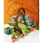 Cross stitch kit - Easter eggs - White patterns