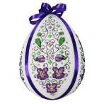 Cross stitch kit - Easter egg with violets