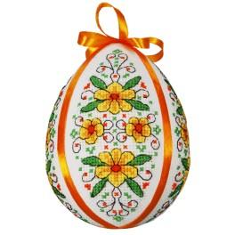 Cross stitch kit - Easter egg with kingcups