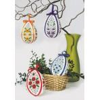 Cross stitch kit - Easter egg with tulips