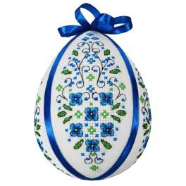 Cross stitch kit - Easter egg with forget-me-nots
