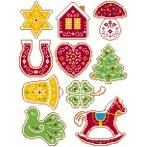 Cross stitch kit - Christmas decorations - Embroidered gingerbread