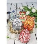 Cross stitch kit - Easter egg - Gray arabesque