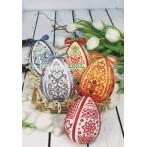 Cross stitch kit - Easter egg - Blue arabesque