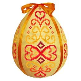 Cross stitch kit - Easter egg - Red arabesque