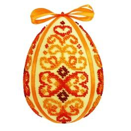 Kit with beads - Easter egg - red arabesque