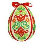 Kit with beads - Easter egg - colourful arabesque