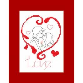 Cross stitch kit - Valentine's Day card