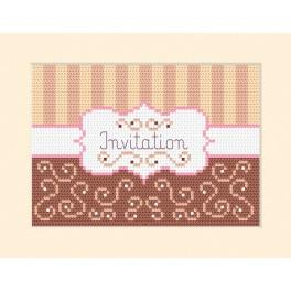 Cross stitch kit - Card - Invitation