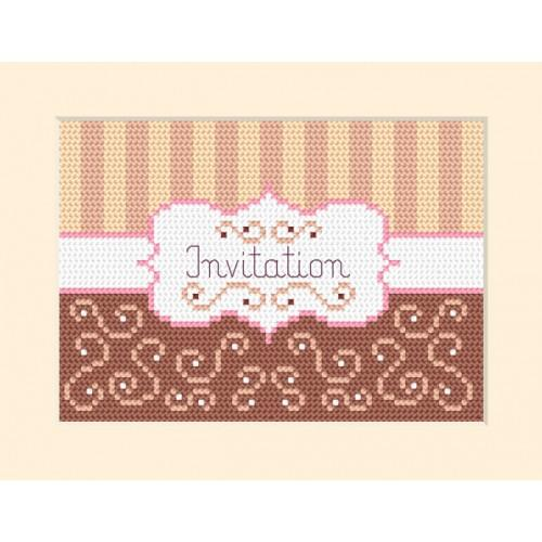 Cross stitch kit - Card - Invitation