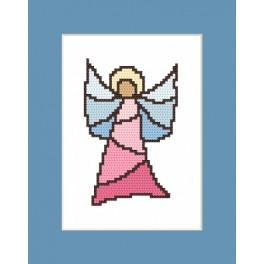 Cross stitch kit - Card - Stained Glass Angel I