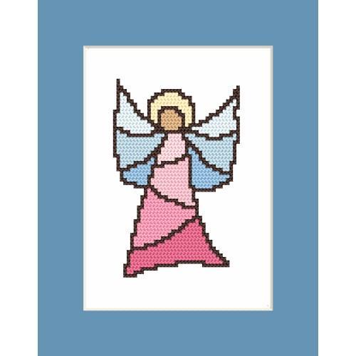 Cross stitch kit - Card - Stained Glass Angel I