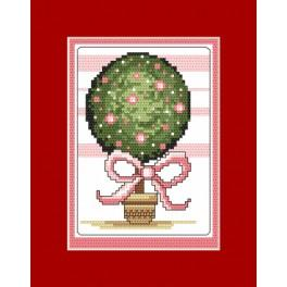 Cross stitch kit - Card - Tree of happiness