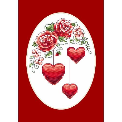 Cross stitch kit - Greeting card - For you